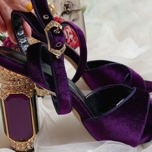 Shoes - Classy purple heels with sparkle
